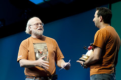 "Ari Zilka and James Gosling, General Session ""The Toy Show"" on June 5, JavaOne 2009 San Francisco"