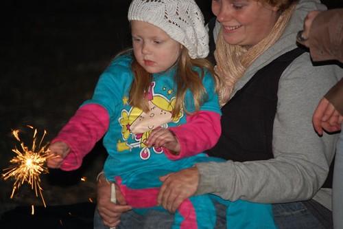 emma g with sparkler