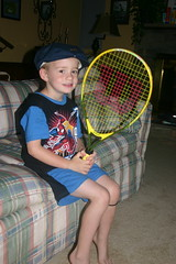Getting ready for crazy hat day @ tennis camp