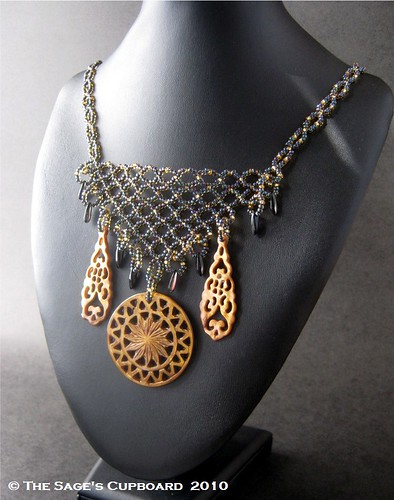 Golden Dawn Bib Necklace by The Sage's Cupboard