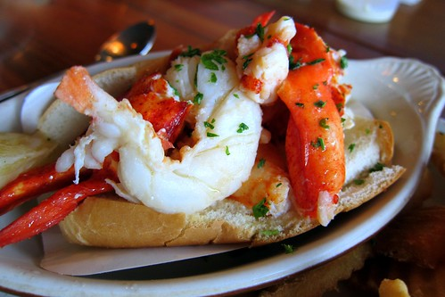 Beautiful lobster roll