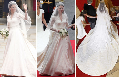 Silk Satin Wedding Gown Kate Middleton