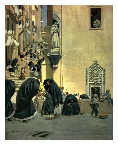 020-Un rincon en la iglesia de San Francisco en Valletta-Malta 1910- Vittoria Boron