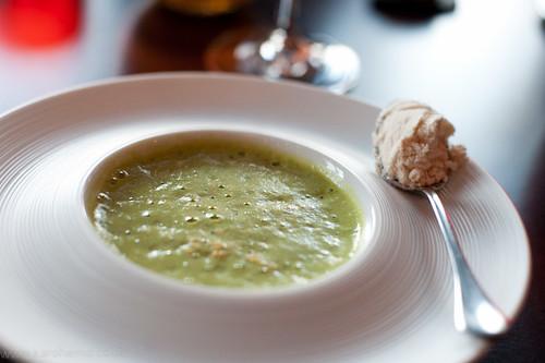 Amouse Bouche: Asparagus Veloute