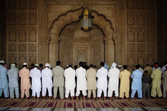 Dhuhr prayers (Lil [Kristen Elsby]) Tags: asia canong12 punjab travel travelphotography badshahi mosque badshahimasjid masjid architecture mughal religion islam muslim prayers dhuhr dhuhrprayers interior men man frombehind inarow southasia getty gettyimages gettyimagesonflickr pray praying topf25 badshahimosque pakistan lahore lhe topv5555