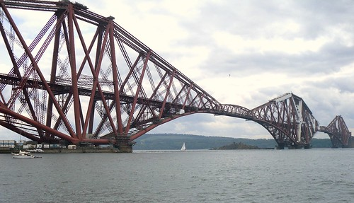 Forth Bridge with Inch Garvie island behind