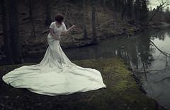 Day 293 (Samantha Pugsley) Tags: trees winter woman white lake selfportrai