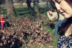 . (LauraKiora) Tags: portrait london leaves self spring bob ruby brockwellpark effrafc