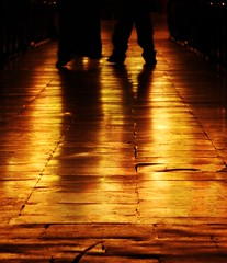 follow the yellow brick road, they sang, see if it leads to your dreams... (Amar Jain) Tags: golden aisle audi bits aplusphoto