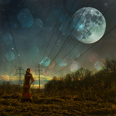 103/365 (jezikalyn) Tags: moon selfportrait square stars bokeh powerlines wakefield 365 500x500 jezika jezikalyn