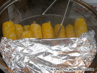 yummy two-colour corn