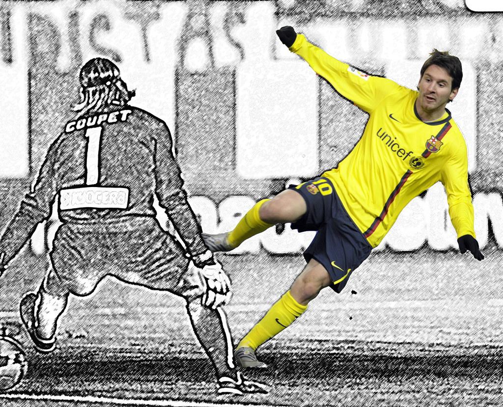 Messi un jugador de dibujos animados  Diario de a bordo