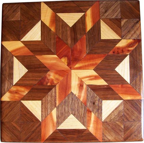 Wood Quilt Blocks / a set by woodmosaics
