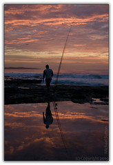 Fishin' for the sun (Michael.Sutton) Tags: seascape reflection clouds sunrise landscape coast michael fishing fisherman nikon rocks surf photographer australian australia shore coastline sutton desktopwallpaper cronulla firstlight desktopbackground d90 sutherlandshire sutto sutto007 fotographylife fotographylifecom michaelsuttonphotographycom michaelsuttonphotography mns007gmailcom suttocom