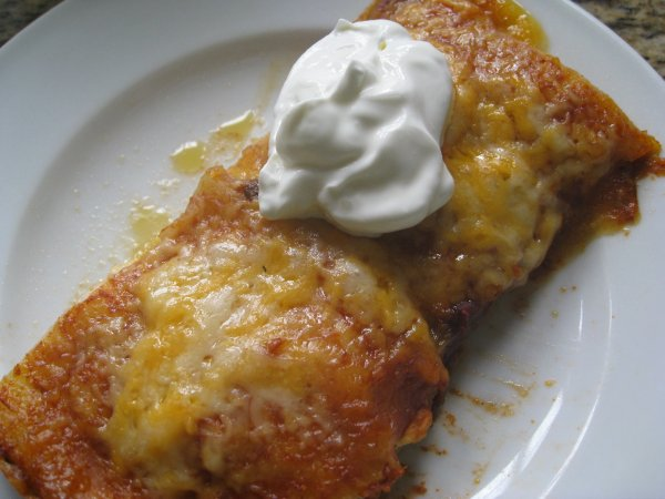 enchilada on plate