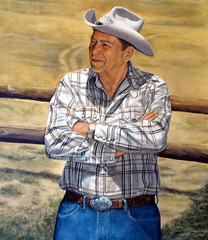 Painting of Ronald Reagan (Colorado Sands) Tags: ronald reagan ranch center art painting portrait ron republican presidential history historical musem artifacts yfa yfaorg gipper ronnie american february62009 president ronreagan celebrity westernattire cowboyhats us uspresidents americana americans actor reaganranchcenter presidentronaldreagan ronaldreagan cowboy america unitedstates 美国加州 usa sandraleidholdt california santabarbara