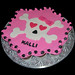 pink and black girly skull cupcake cake