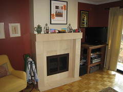 Fireplace with new doors