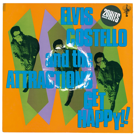 Front cover, Get Happy!!, Elvis Costello And The Attractions, 1980.