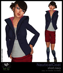 [MG fashion] NauticalCoat.short.navy