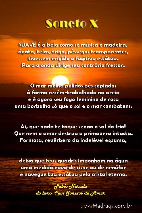 Soneto 10 - Pablo Neruda