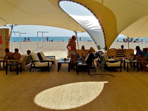 chill-out lounge at the beach
