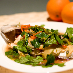 Steamed Spicy Sea Bream