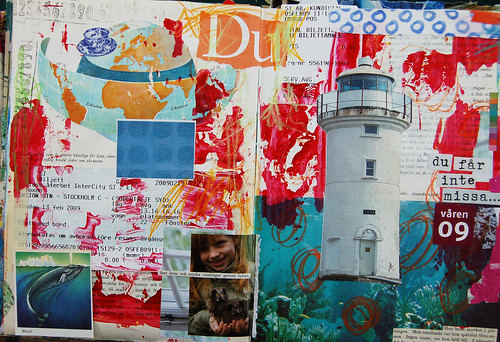 Du - art journal spread (copyright Hanna Andersson)
