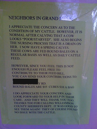 Neighbors in Grand Mesa: I appreciate t