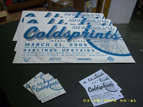 Coldsprints flyers and signage