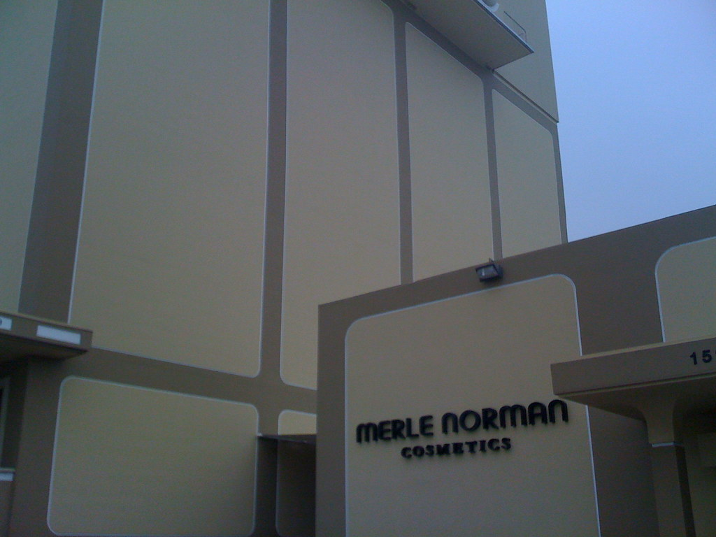 Merle Norman Cosmetics and San Sylmar Building