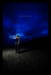 Day Eighty (Dustin Diaz) Tags: ocean lighting portrait sky santacruz beach umbrella sand nikon saturday wideangle 365 awesomeness featured project365 strobist dustindiazcom erincaton d700 sb900 1424mmf28g