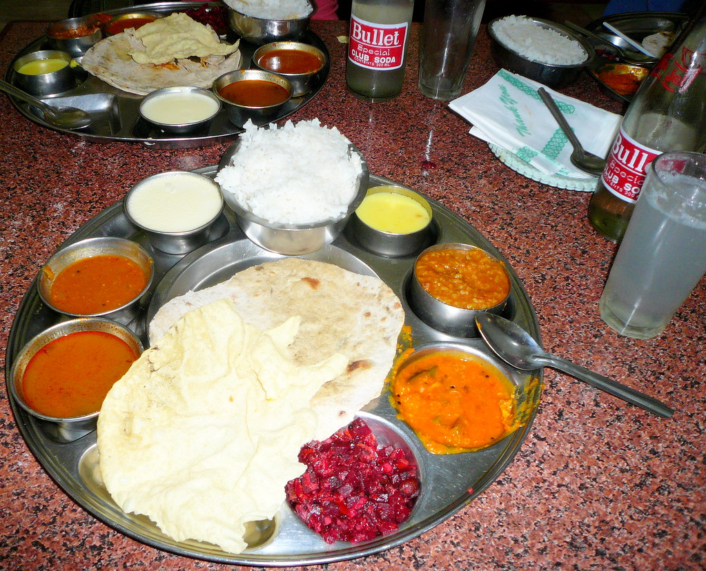Thali with lime soda