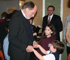 Corzine at DFA Party