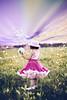 (mylaphotography) Tags: flowers blue white girl field child purple picking pettiskirt mylaphotography