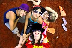 Fairytales on Vacation (Nika Fadul) Tags: friends vacation sunglasses happy funny colorful hats freaks fairytales creazy monicafadul nikafadul