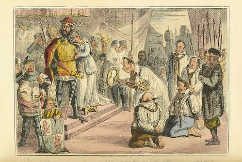 004-La reina Filipa intercediendo ante Edward III por los seis burgueses de Calais