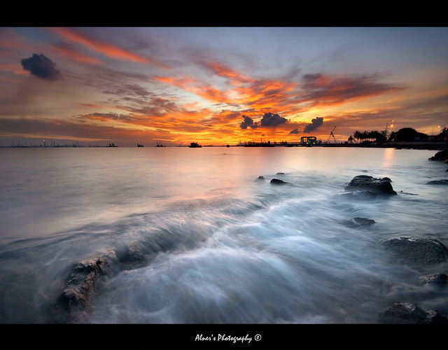 """Fire Over Troubled Water"" :: Labrador Park Singapore"