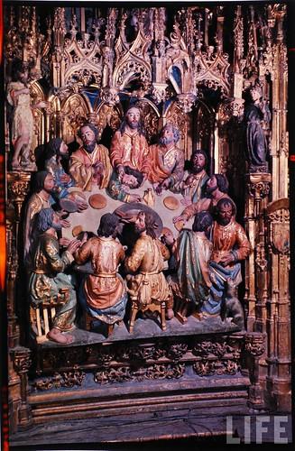 Detalle del altar mayor de la Catedral de Toledo en 1963. Fotografía de Dmitri Kessel. Revista Life (5)