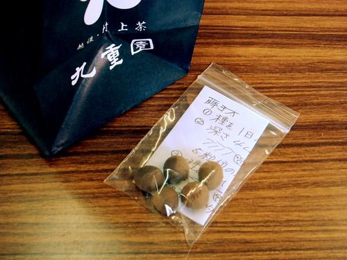 九重園のお茶とお茶の種