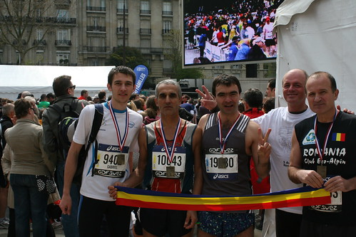 runners place, after finish