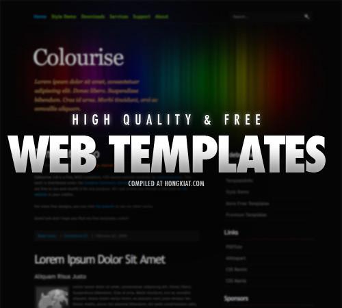 38 free elegant xhtml css website templates hongkiat