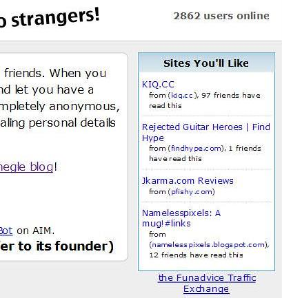 Traffic Exchange via Omegle by you.