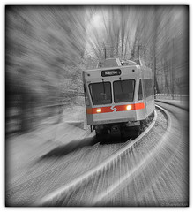 High Speed Line (Shamrockah) Tags: motion blur speed train movement zoom visualarts explore curve septa n5 haverford route100 explored goldenheartaward artofimages bestcapturesaoi train137 elitegalleryaoi