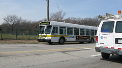 Southbound Pace bus on Cumberland Avenue. River Grove Illinois. March 2009.