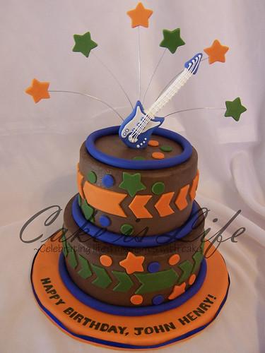 Guitar Birthday Cake