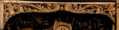 Xanten, Dom St. Victor, Marienaltar, detail (groenling) Tags: wood face gesicht mask cathedral dom carving altar nrw holz rheinland woodcarving xanten maske stiftskirche saintmary marienaltar victordom domstvictor