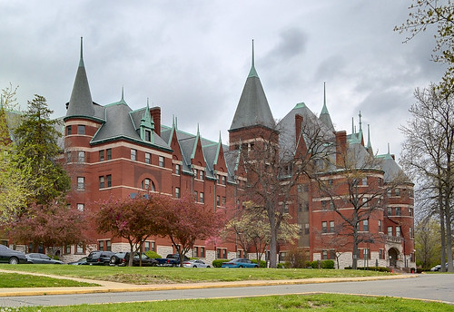 Former Saint Vincent's Hospital, in Normandy, Missouri, USA