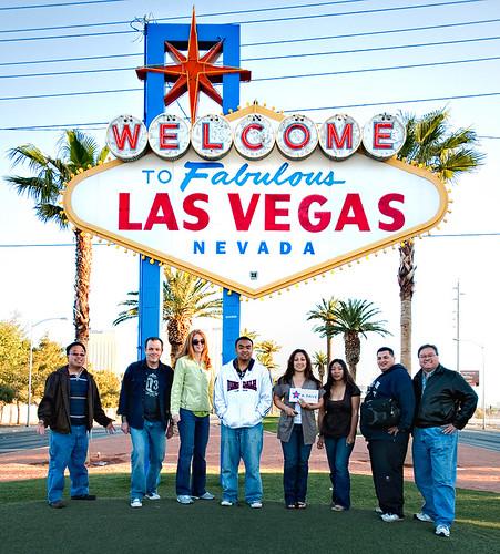 Las Vegas Sign Group Portrait