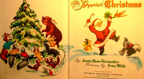 title page the happiest christmas vintage childrens book